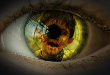 Auge Pupille Flüchtlingskind